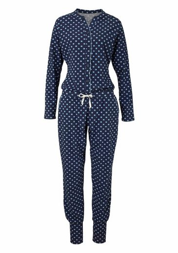 Bee Happy by RÖSCH Langer Jumpsuit mit feinem Allover-Sternenprint