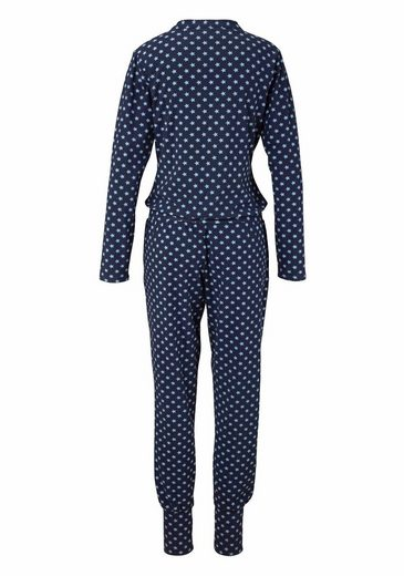 Bee Happy By Rösch Long Jumpsuit With Fine Allover-stern Print
