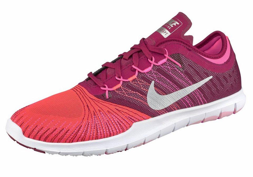 Nike »Flex Adapt TR Wmns« Fitnessschuh in beere-silberfarben
