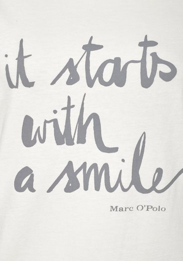 Marc O´Polo Basic-Shirt It Starts with a Smile