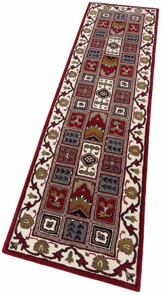 Orient-Läufer, Theko exklusiv, »Royal Ghom«, reine Schurwolle, handgetuftet in rot