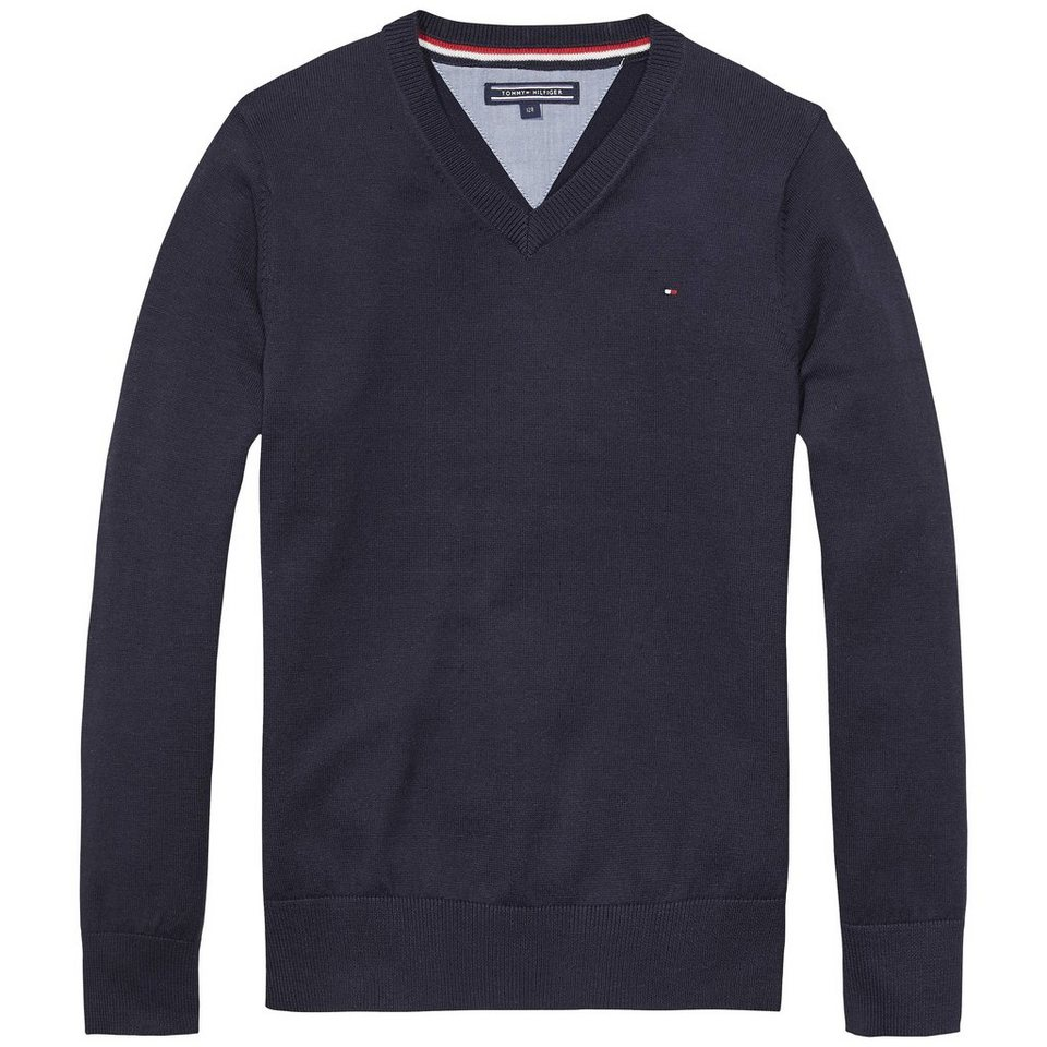 Tommy Hilfiger Pullover »TOMMY VN SWEATER L/S.« in Midnight