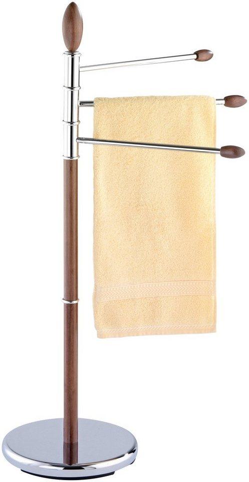 Handtuchständer »Belingo« in chrom/nussfarben