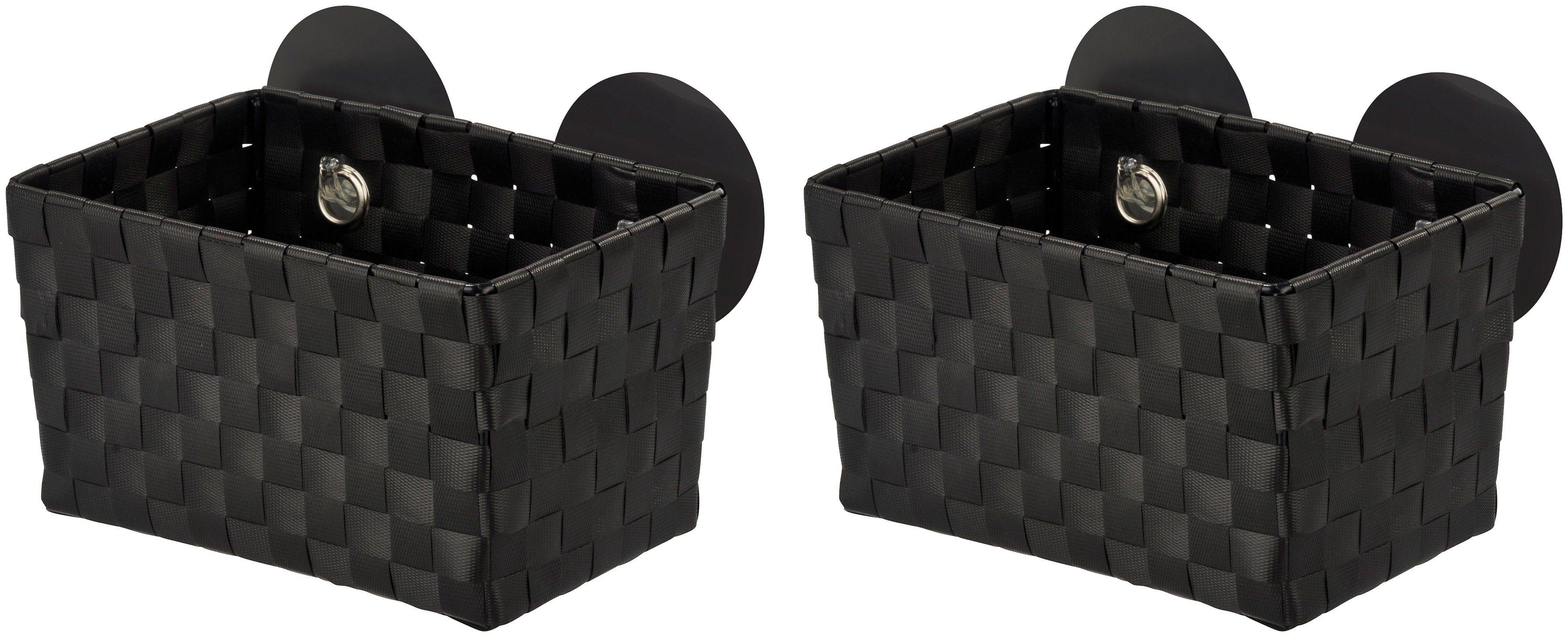 WENKO Aufbewahrungsbox »Fermo Black«, Static-Loc, 2er-Set