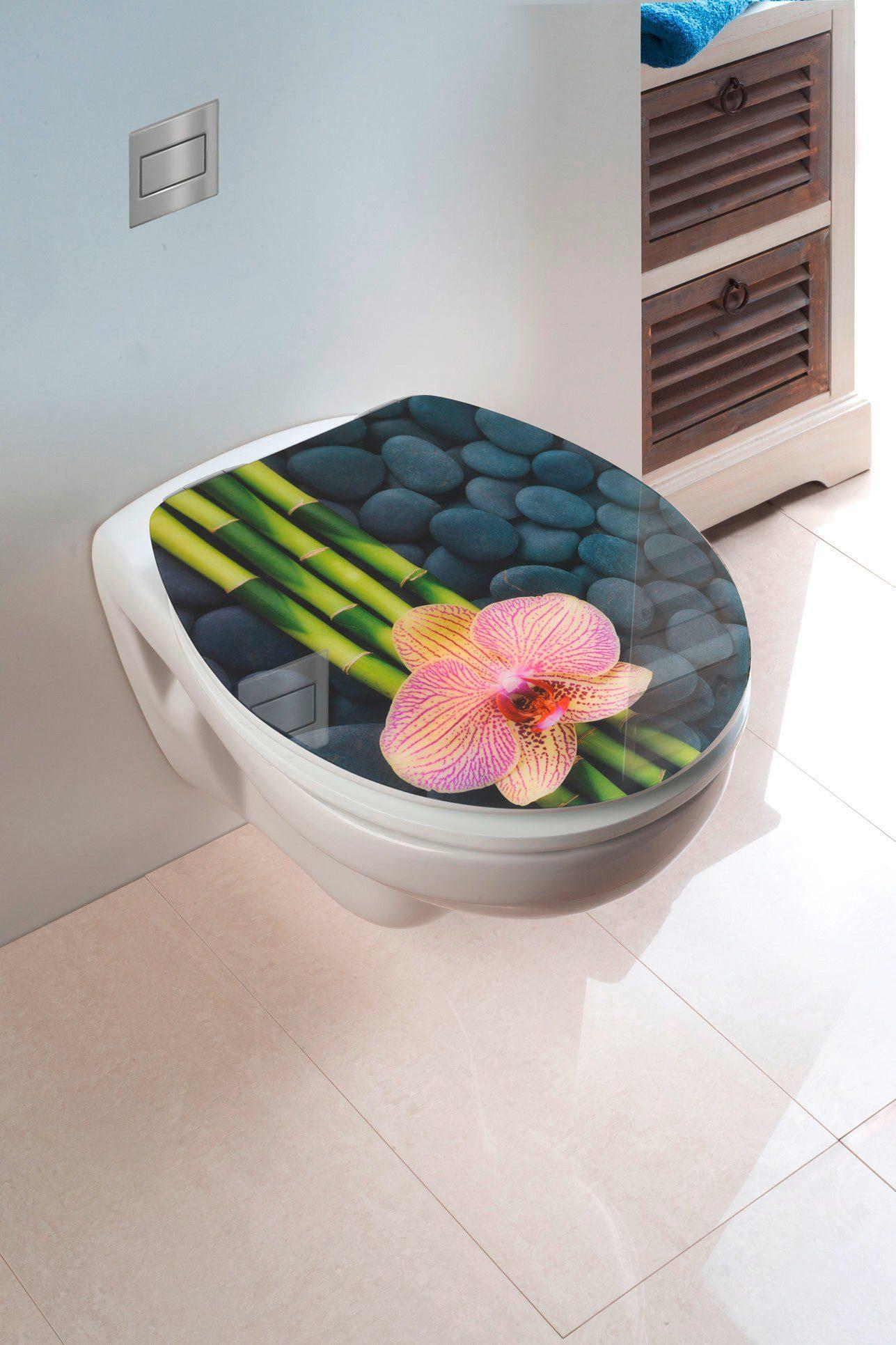 Wenko WC-Sitz »Spa«, Mit Absenkautomatik