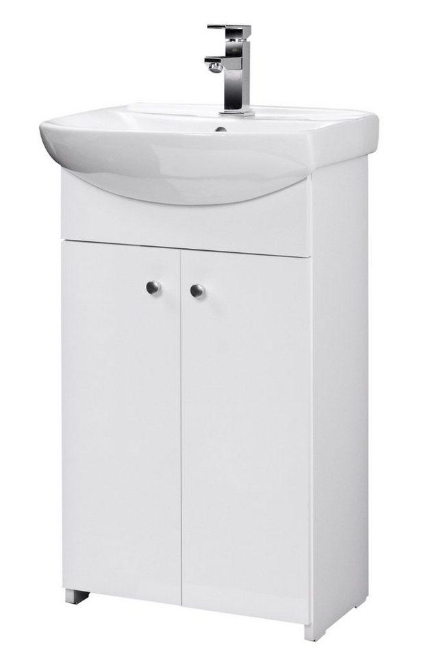 Waschtisch »Maxi 2«, Breite 50 cm, (2-tlg.) in weiß