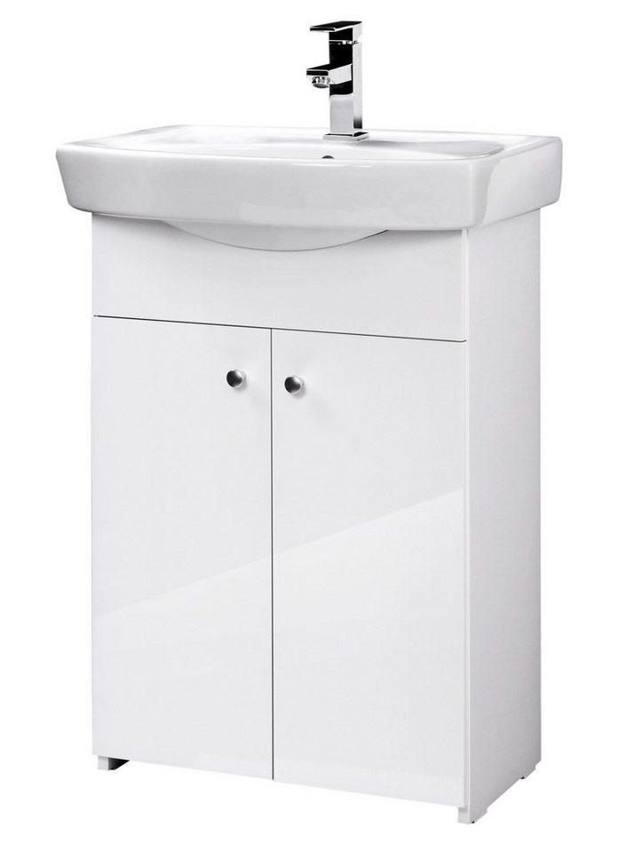 Waschplatz »Maxi 2«, 60 cm, (2-tlg.) in weiß