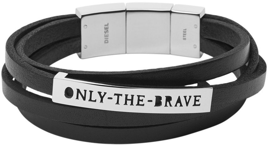 Diesel Jewelry Armband, »Only the brave, DX0922040« in schwarz-silberfarben