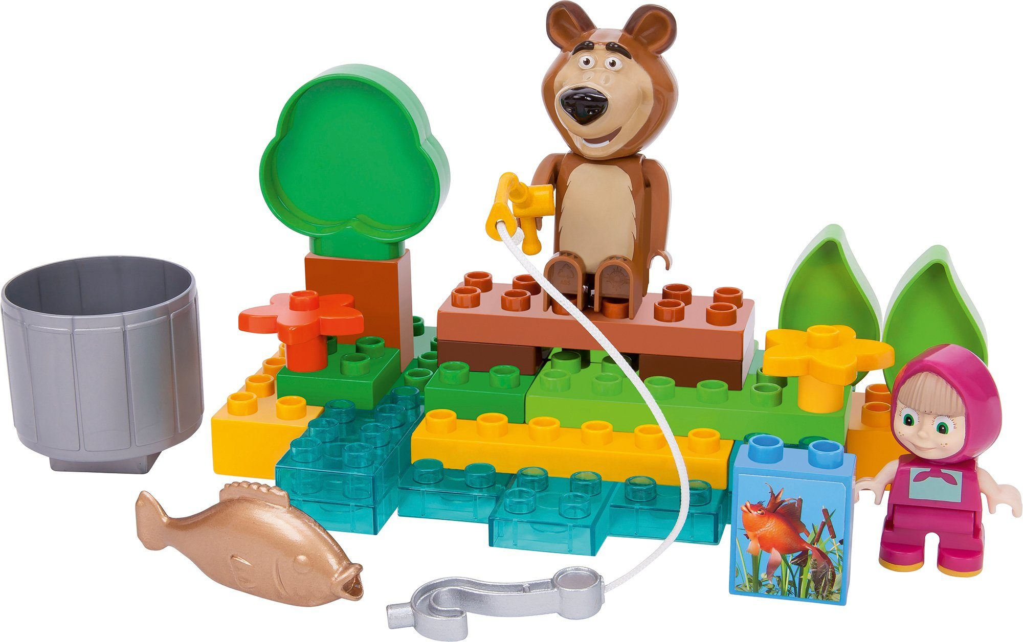 BIG Bausteinespielset, »PlayBIG Bloxx Masha an the Bear, Go Fishing«