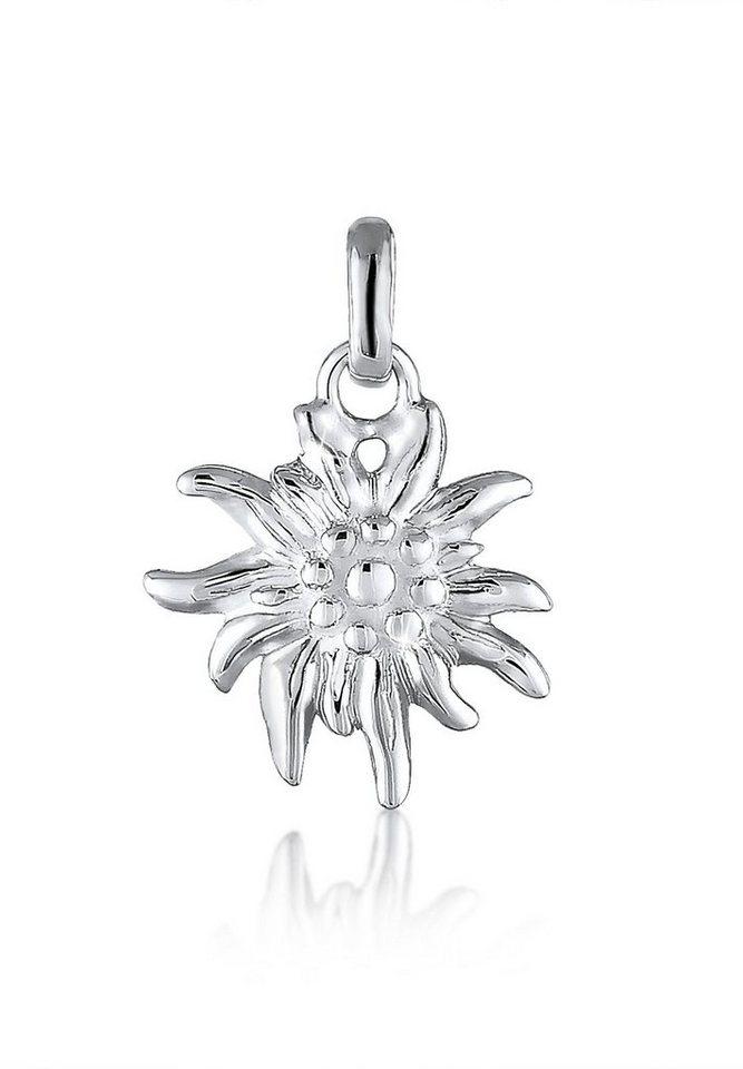 Elli Anhänger »Wiesn Oktoberfest Edelweiss 925 Silber« in Silber