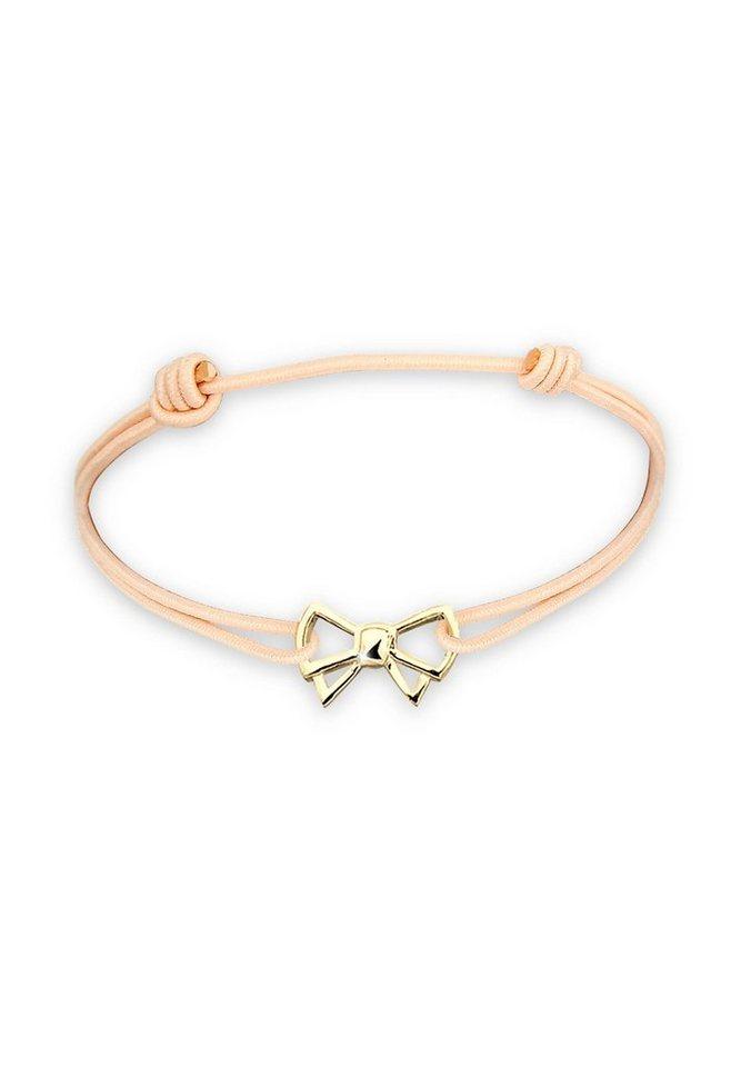 Elli Armband »WIESN TRACHT Schleife vergoldet« in Braun