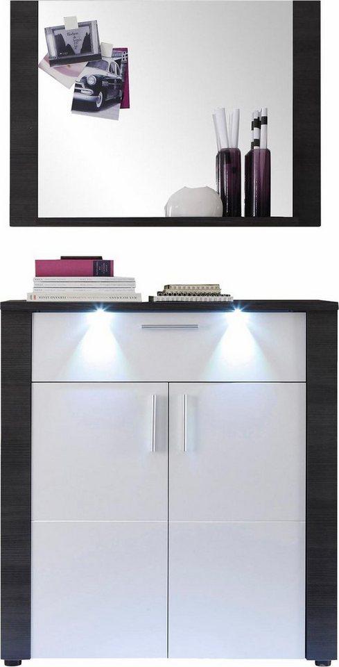 Garderoben-Set »Xpress« (2-tlg.) in eschefarben grau/weiß