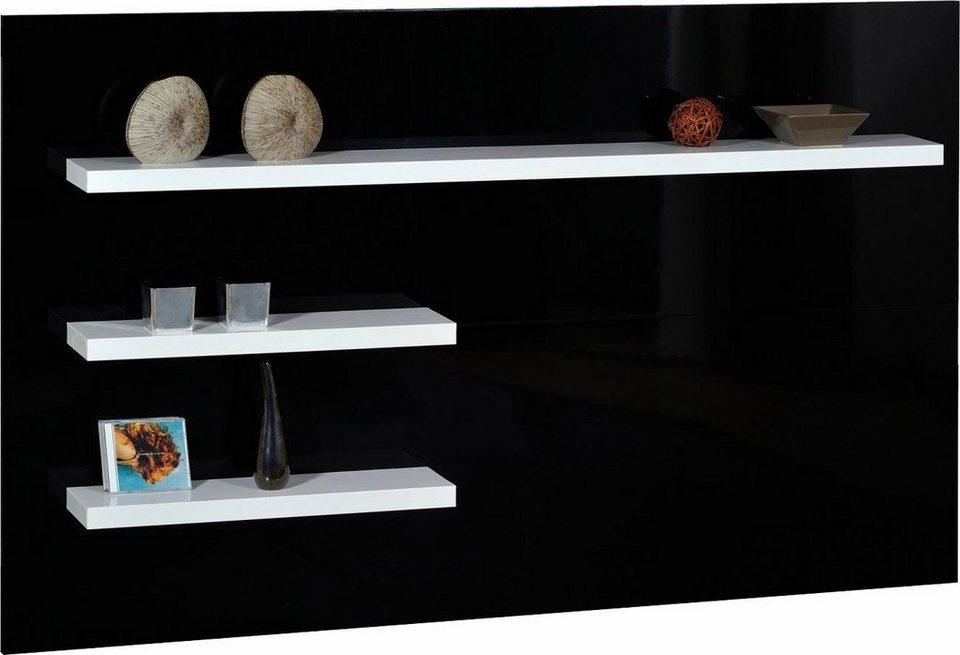 S.C.I.A.E. TV-Wandboard, Breite 180 cm in Schwarz/Weiß Hochglanz lackiert