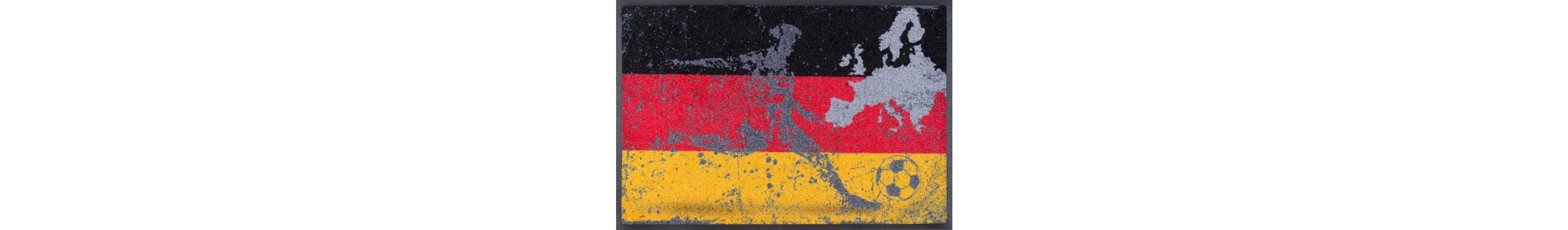 Fußmatte, WASH + DRY BY KLEEN-TEX, »Football Germany«, rutschhemmend beschichtet