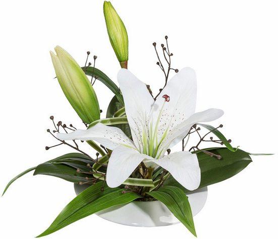 Kunstblume »Lilienarrangement«  Creativ green  höhe 28 Zentimeter
