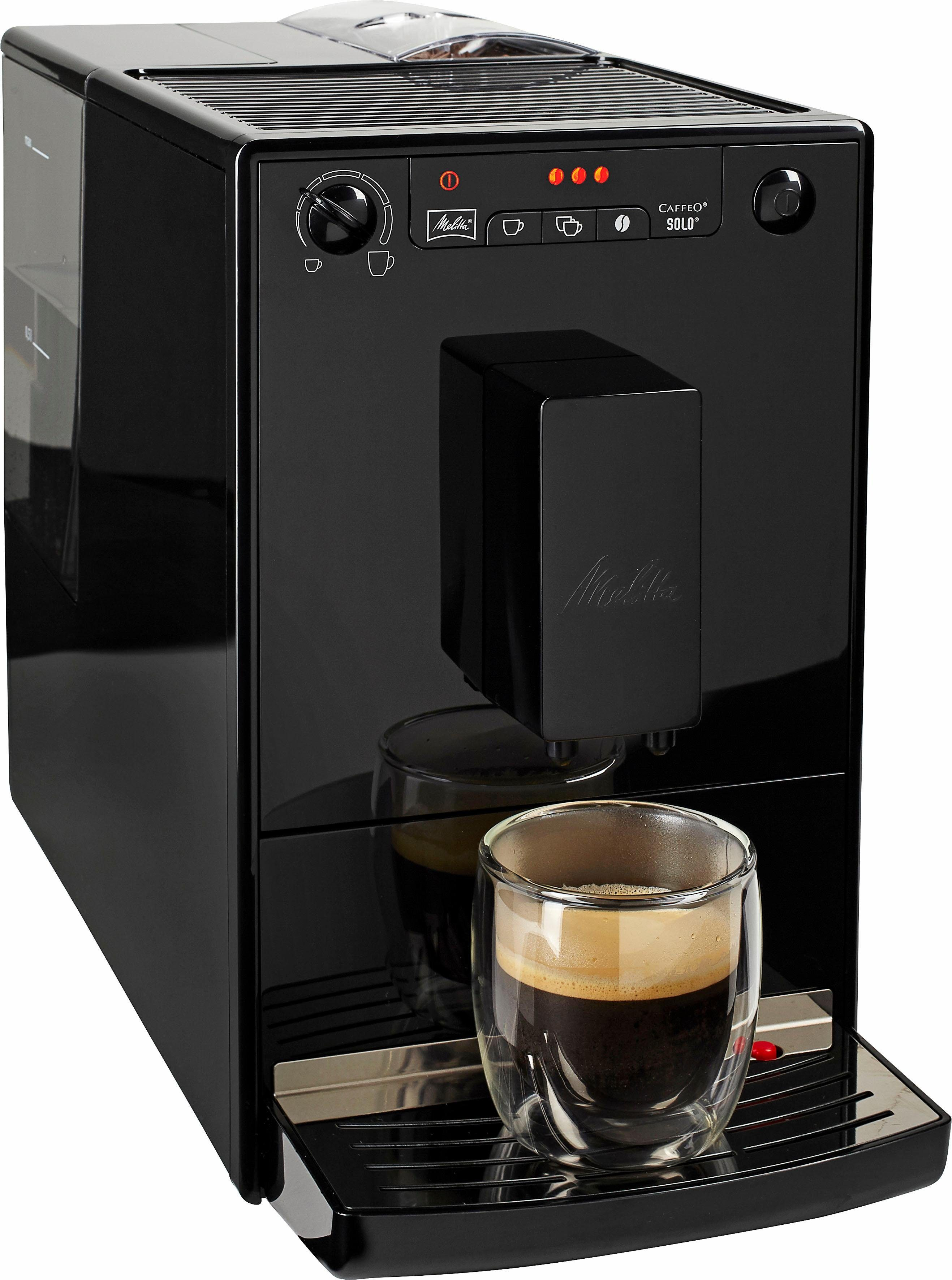 Melitta Kaffeevollautomat CAFFEO® Solo® Pure Black E 950-222, 1,2l Tank, Kegelmahlwerk