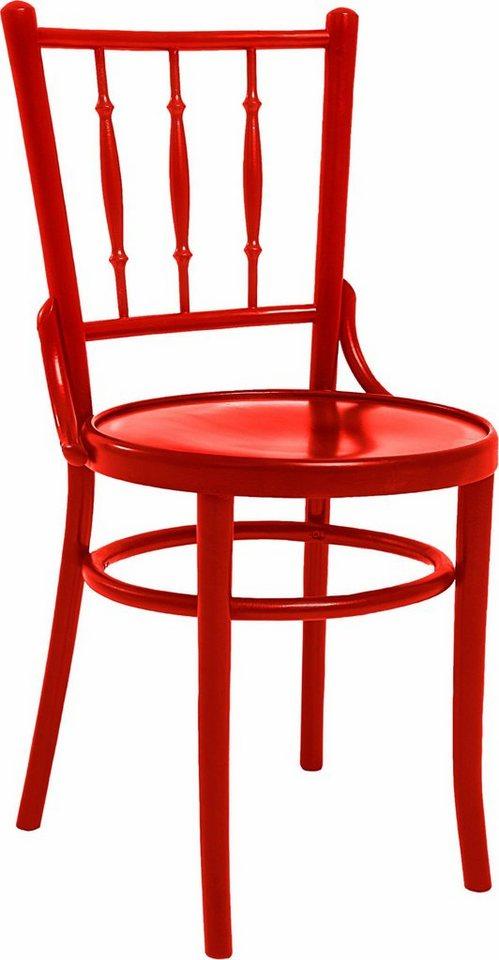 Premium collection by Home affaire Stuhl »Hertford«, Massivholz mit gedrechselten Details in rot
