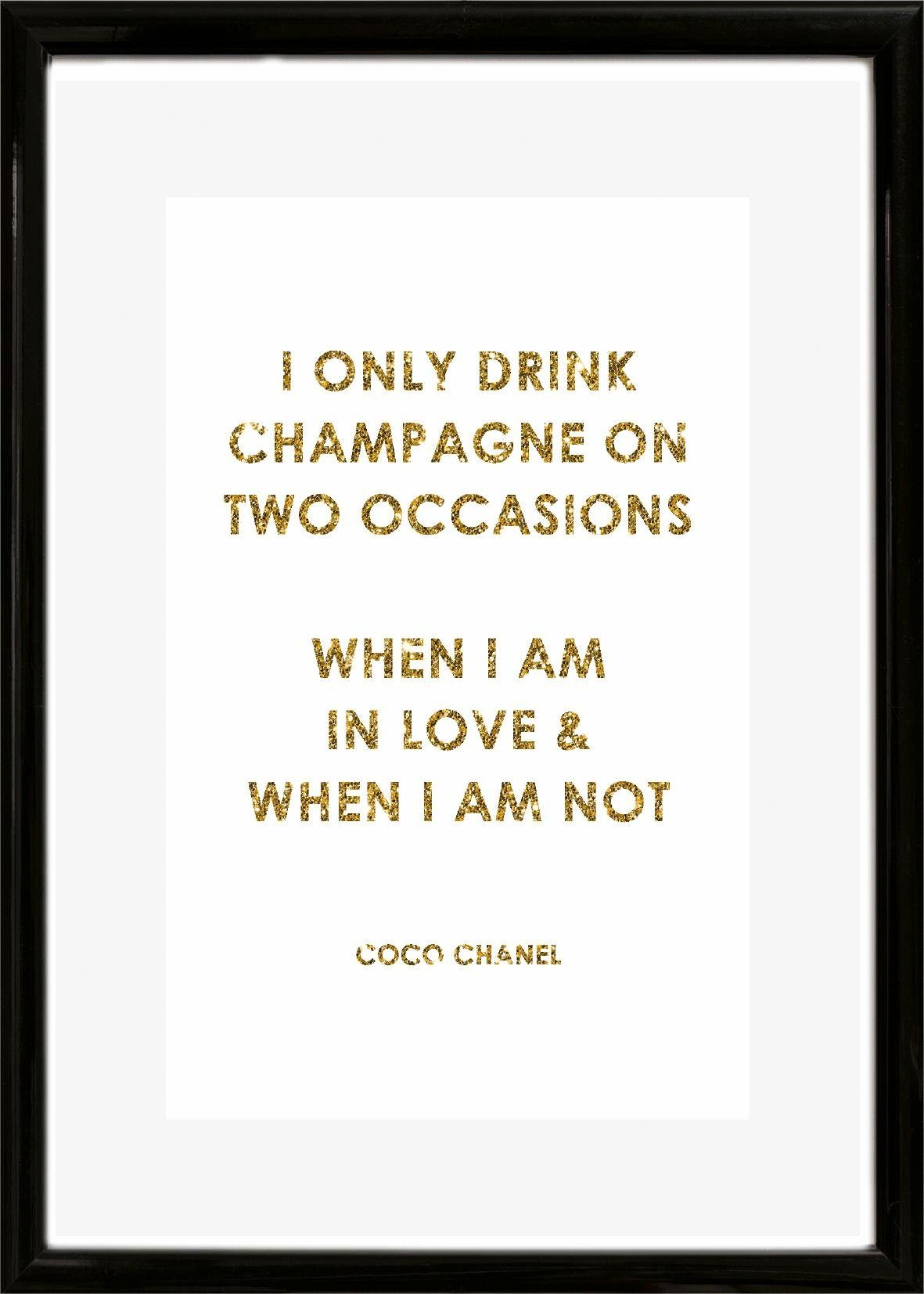 Home affaire Rahmenbild »Spruch: I only drink …«, 30/40 cm
