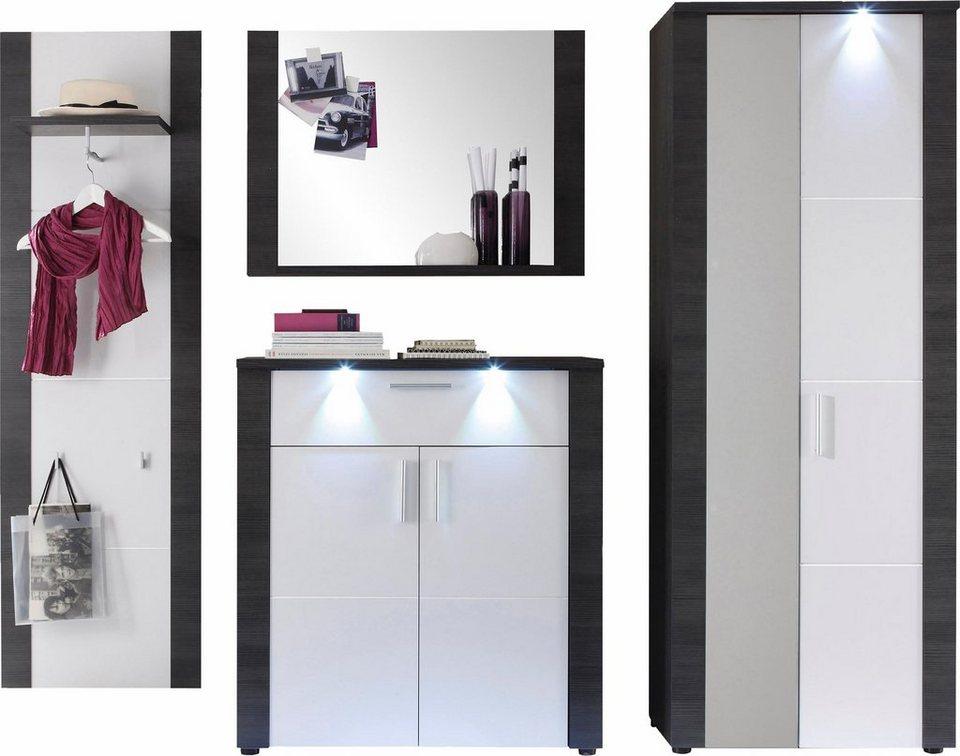 Garderoben-Set »Xpress« (4-tlg.) in eschefarben grau/weiß