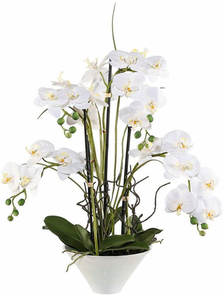 Home affaire Kunstblume »Orchidee« in weiß