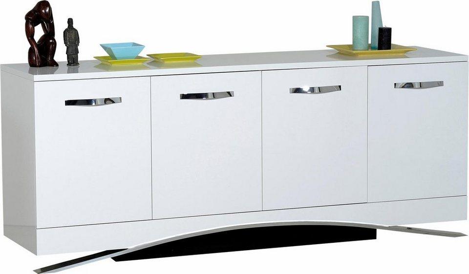 S.C.I.A.E. Sideboard, Breite 200 cm in Weiß Hochglanz lackiert