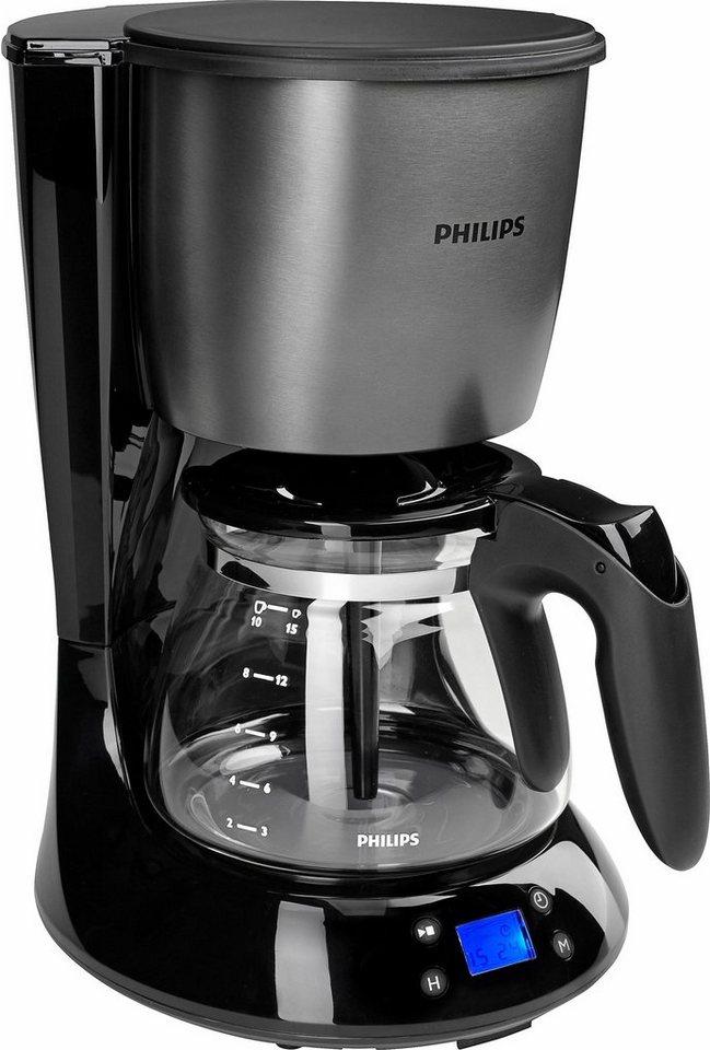 Philips Filterkaffeemaschine HD7459/81 Daily Metall Collection, 1,2 l-Glaskanne,Titanium in Titanium