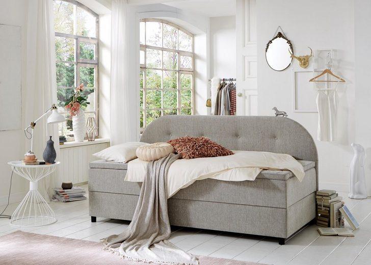 home affaire boxspringliege inkl topper katy otto. Black Bedroom Furniture Sets. Home Design Ideas