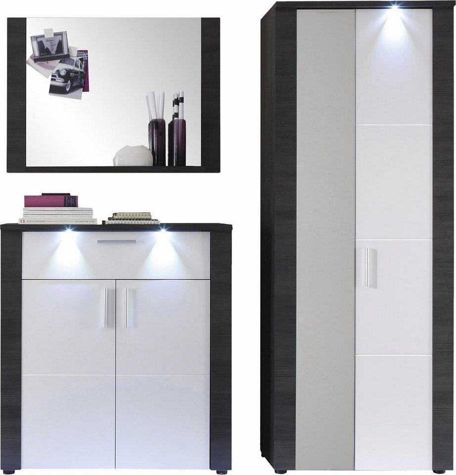 Garderoben-Set »Xpress« (3-tlg.) in eschefarben grau/weiß