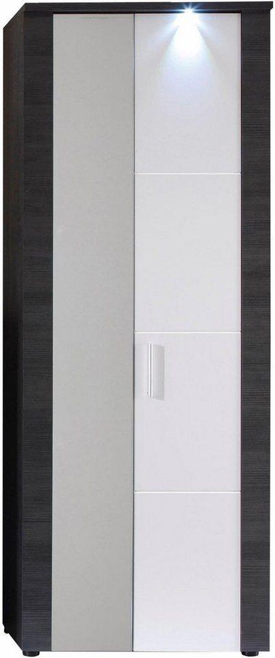 Garderobenschrank »Xpress« mit Spiegel in eschefarben grau/weiß