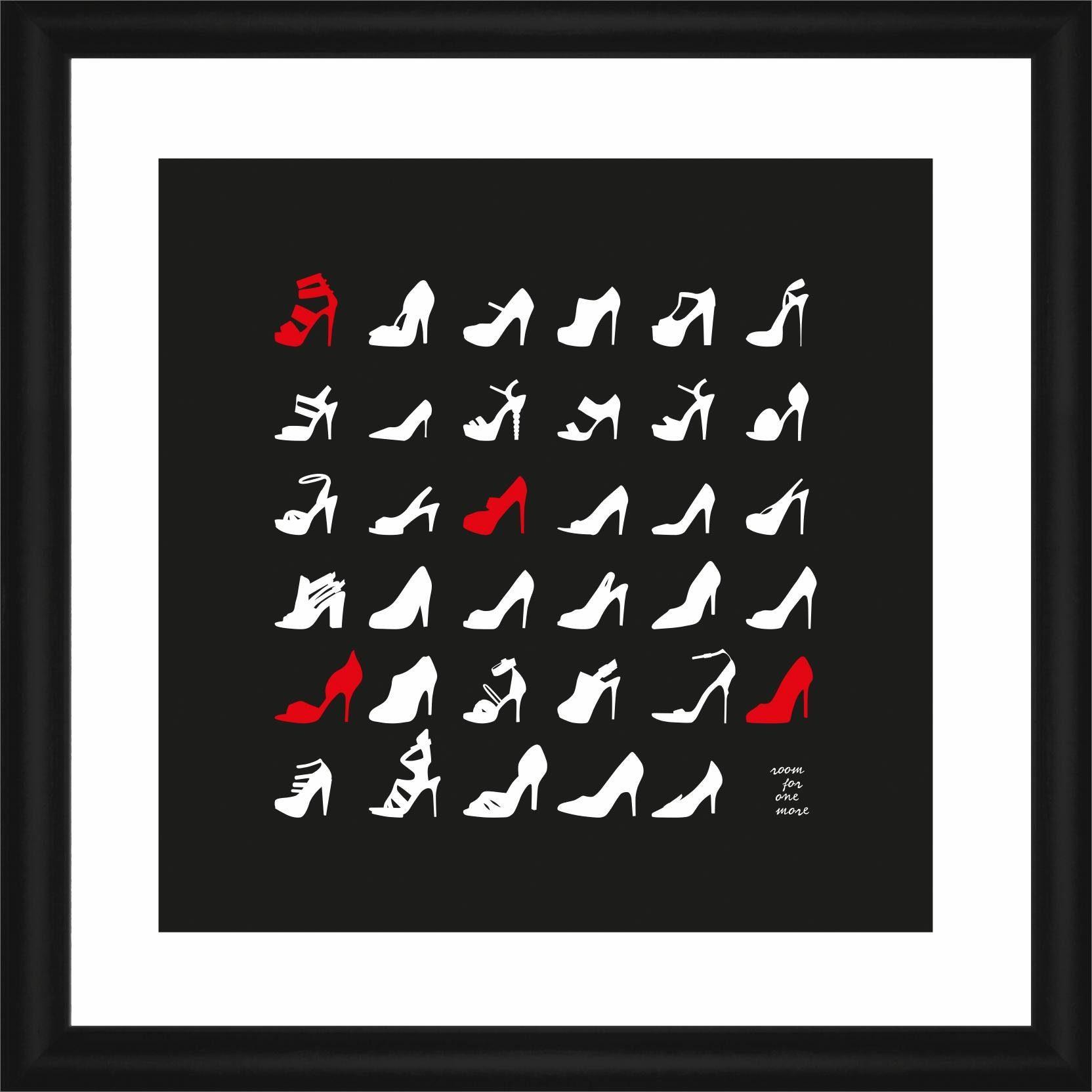 Home affaire Rahmenbild »Shoes«, 50/50 cm
