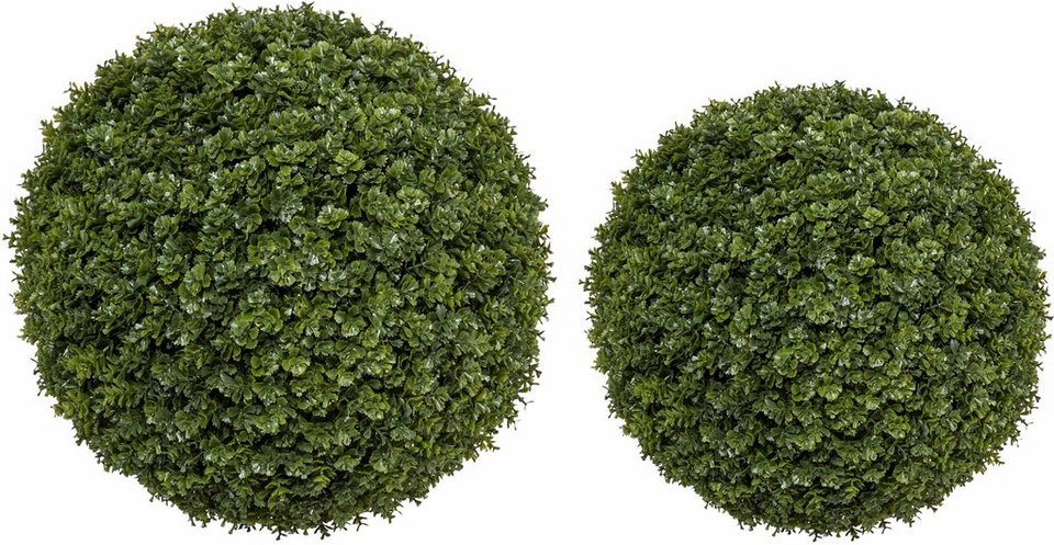 Home affaire Kunstpflanze »Centuarea-Kugel« im 2er Set in grün