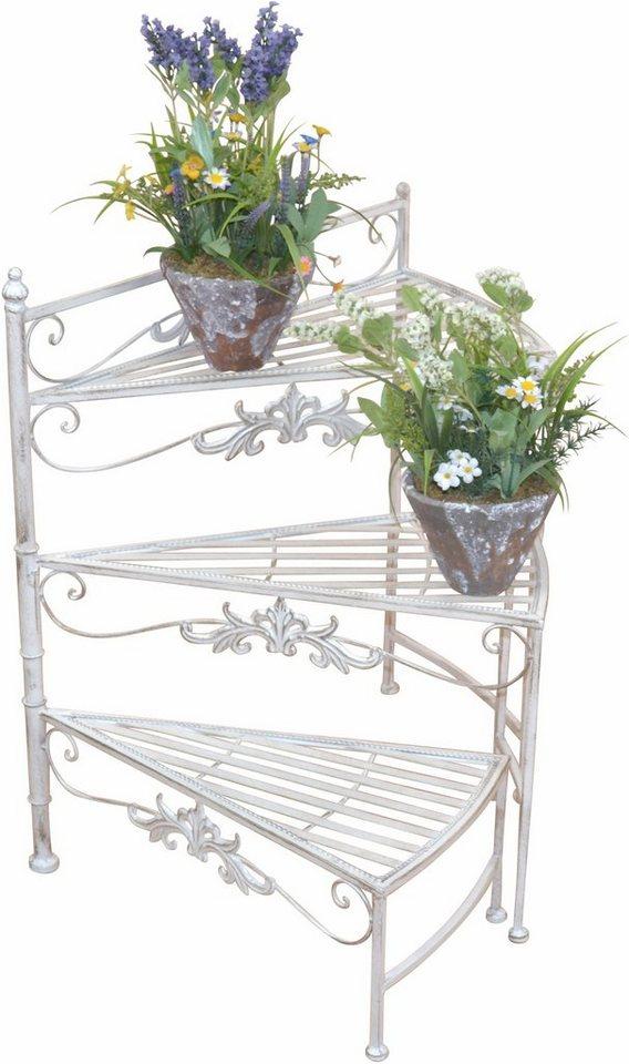 Home affaire Blumenständer »Treppe« in cremeweiß