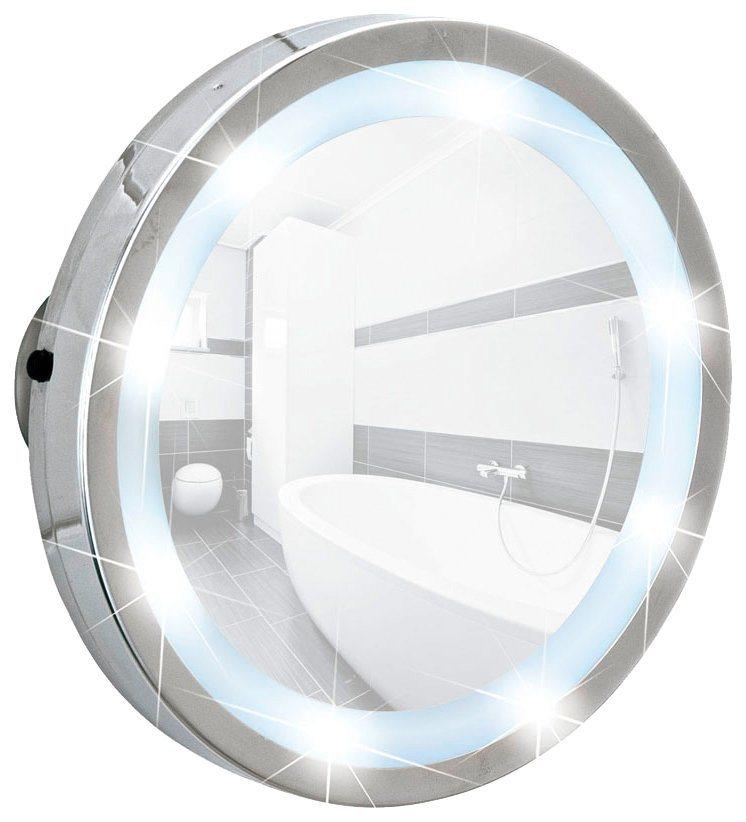 wenko kosmetikspiegel mosso led leuchtspiegel mit 3 saugn pfen 3 fach vergr erung online. Black Bedroom Furniture Sets. Home Design Ideas