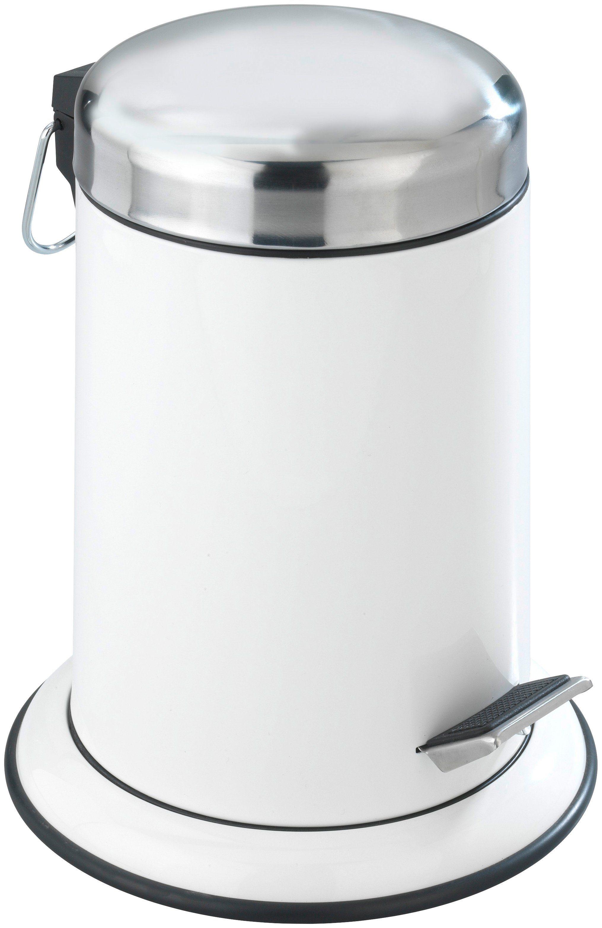 WENKO Kosmetik-Abfalleimer »Retoro weiß«, Edelstahl rostfrei, 3 Liter