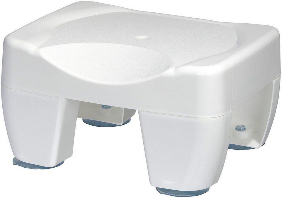 Hocker »Für Dusche und Bad« in weiß