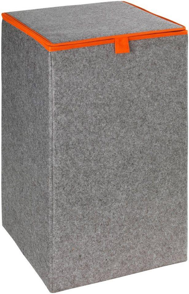 Wäschesammler »Uno Filz« in grau/orange