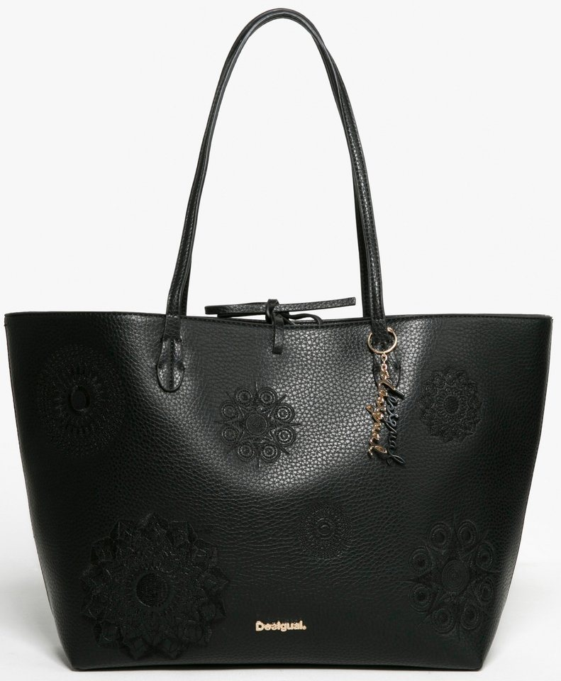 Desigual Shopper mit Ornamentstickerei in schwarz