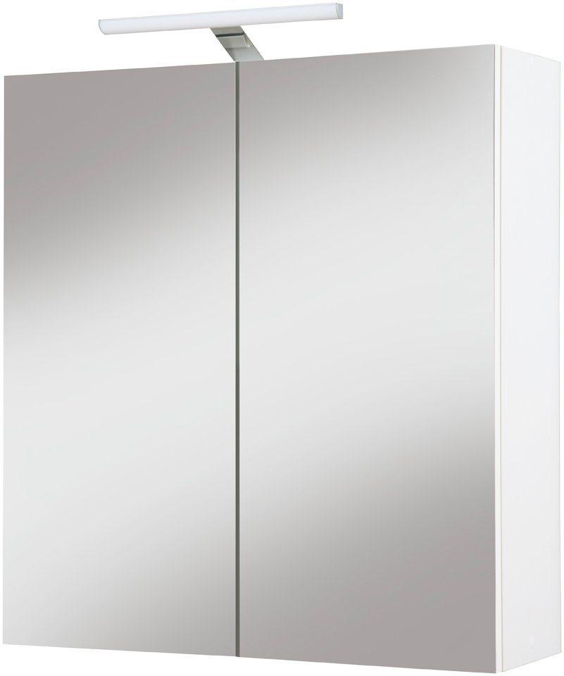Kesper Spiegelschrank »Como« Breite 65 cm, mit LED-Beleuchtung in weiß