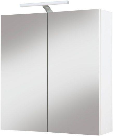 kesper spiegelschrank como breite 65 cm mit led beleuchtung online kaufen otto. Black Bedroom Furniture Sets. Home Design Ideas