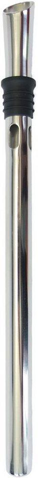 Maximex Edelstahl-Weinkühler mit Ausgießer in silberfarben
