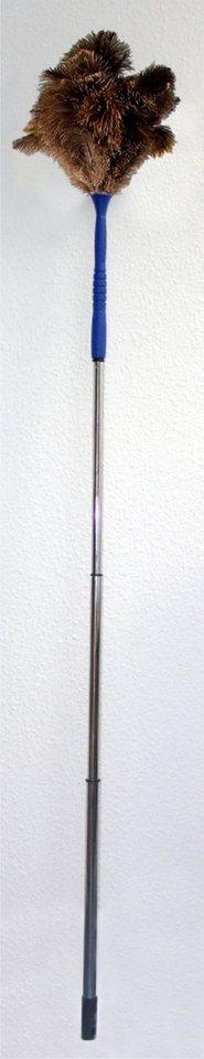 Maximex Straußenfeder-Staubwedel mit Teleskopstiel in silberfarben