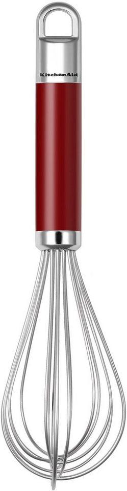 KitchenAid Schneebesen, »KGEM3105ER« in rot/silberfarben