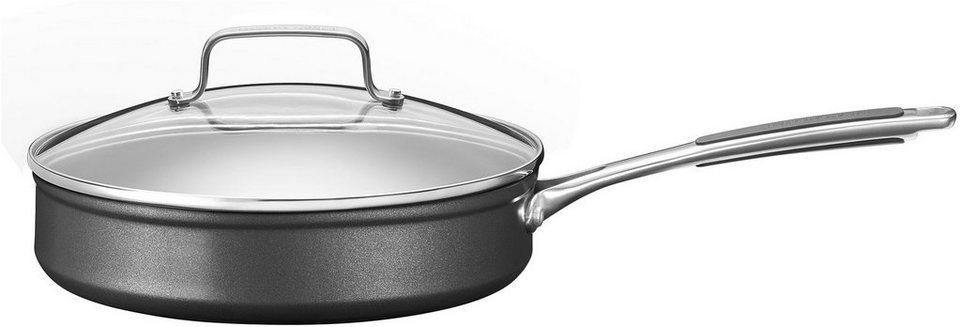 KitchenAid Stielkasserolle mit Deckel, Aluminium, Induktion in schwarz