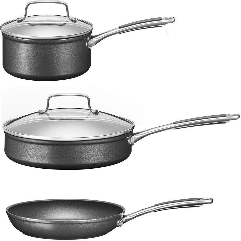 KitchenAid -Set, Aluminium, Induktion in schwarz