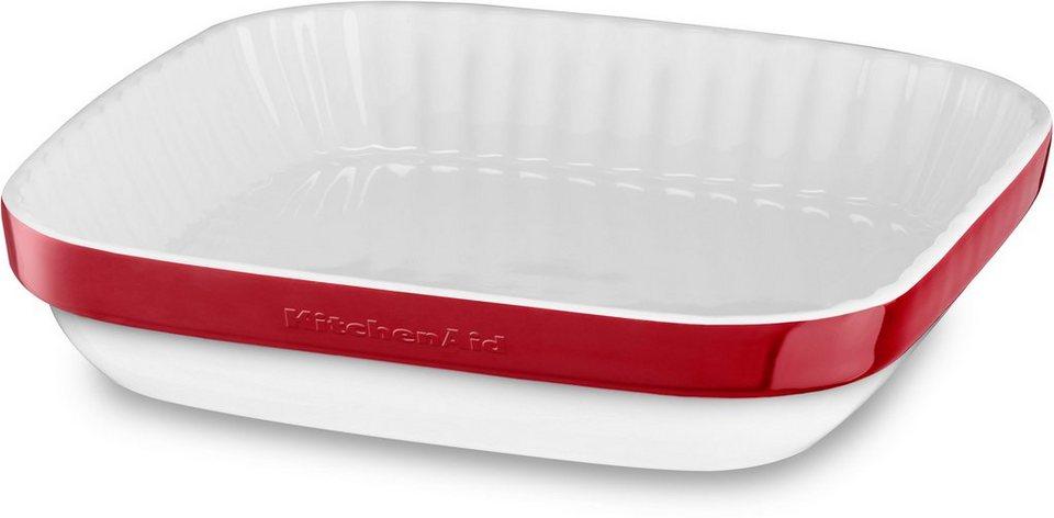 KitchenAid Gratinform, »KBLR09AGER« in weiß/rot