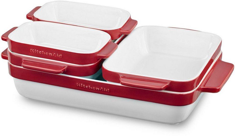 KitchenAid Keramikformen, 5-teilig, »KBLR05SBER« in weiß/rot