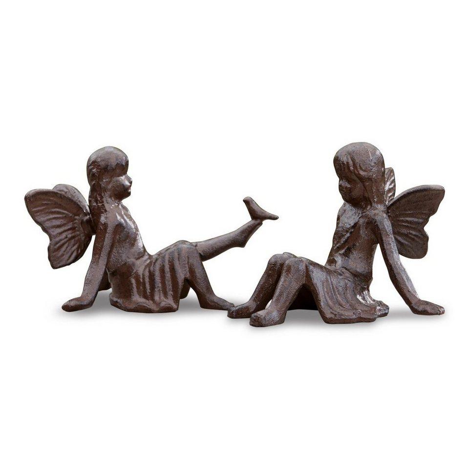 Loberon Deko-Figur 2er-Set »Papille« in antikbraun
