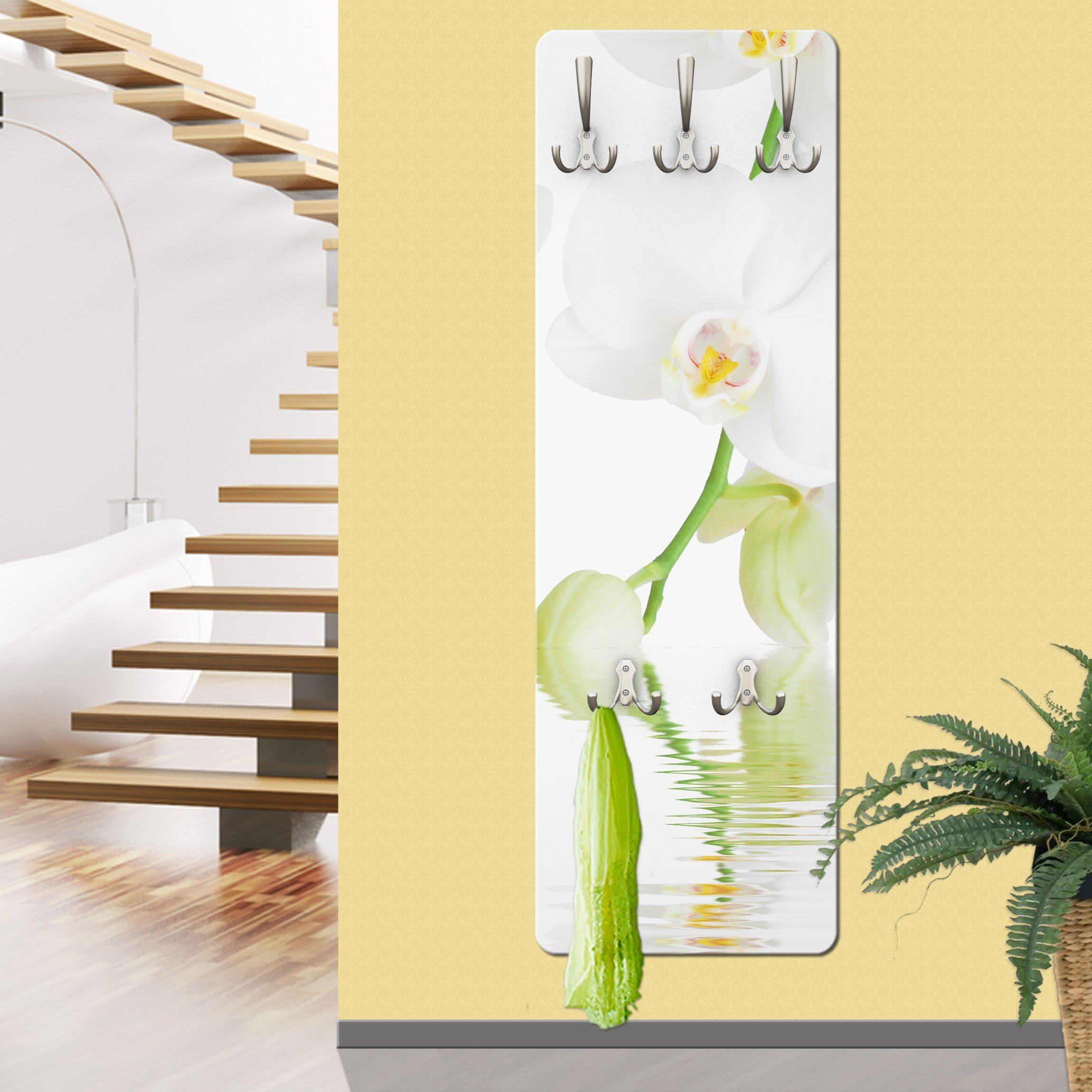 Bilderwelten Wandgarderobe 139x46x2cm »Wellness Orchidee«