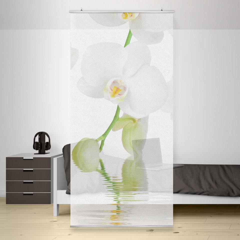 Bilderwelten Raumteiler 250x120cm »Wellness Orchidee« in Weiß