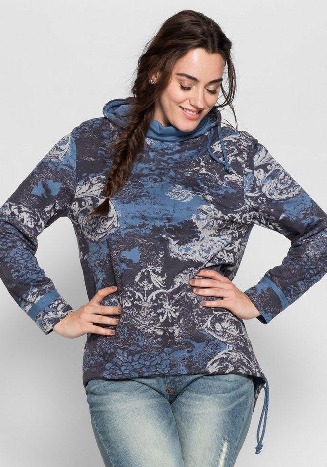 Joe Browns Sweatshirt mit Alloverdruck in blau bedruckt